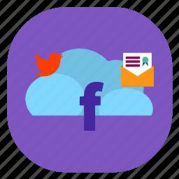 cloud, media, seo icons, seo pack, seo services, seo tools, social icon
