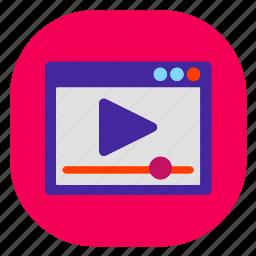 marketing, seo, seo icons, seo pack, seo services, seo tools, video icon