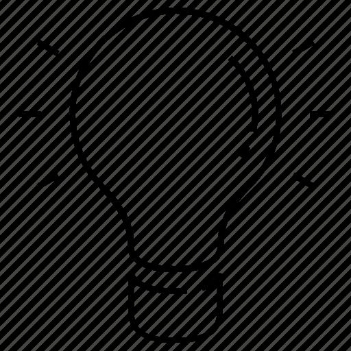 business, creative, idea, lamp, seo icon