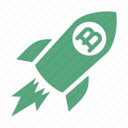 brand development, rocket, spaceship icon