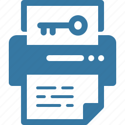 keyword generator, printer icon
