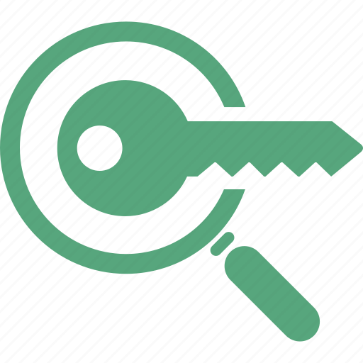 Key, Keyword Research, Magnifying Glass, Seo Icon