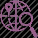 globe, local seo, navigation, search engine optimization icon