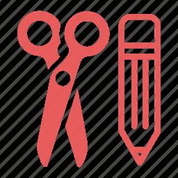 content management, edit, pencil, scissors, seo icon