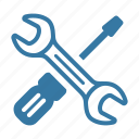 screwdriver, seo maintenance, settings, tools icon