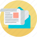 email, flat design, internet, marketing, newsletter, social media, webinar icon