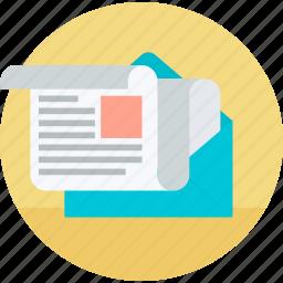 email, flat design, internet, marketing, newsletter, social media, webinar icon