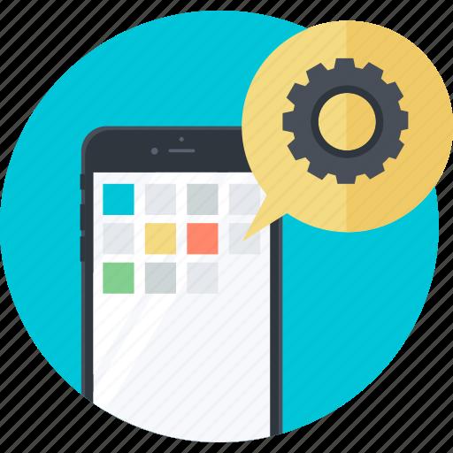 apps, development, flat design, mobile, responsive, round, web icon