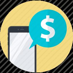 commerce, flat design, mbanking, mobile, online, round, shopping icon