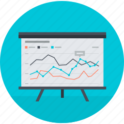 analysis, flat design, optimization, round, seo, training icon