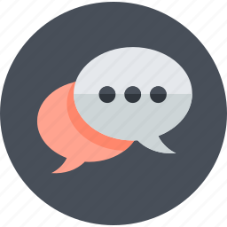 chat, communication, engagement, flat design, media, networking, social icon