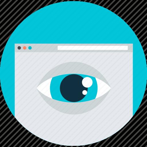 flat design, internet, round, seo, visibility, web, website icon