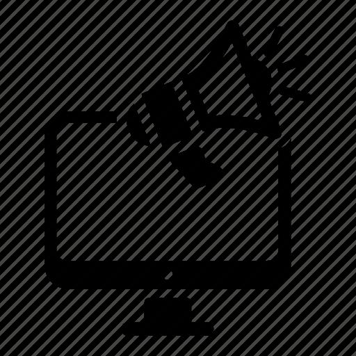 advertising, internet marketing, marketing, megaphone icon