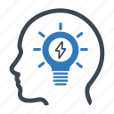 brainstorming, creativity, idea icon