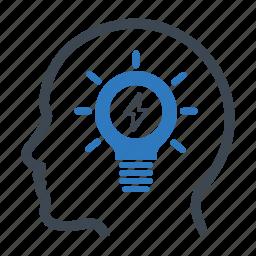 brainstorming, creativity, head, idea icon