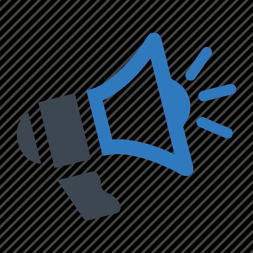 advertising, megaphone, promoting icon