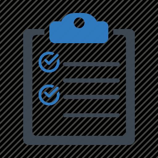 business tasks, check mark, checklist icon