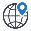 global, location, navigation, pin icon