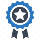 achievement, award, badge, best quality, prize, ribbon icon