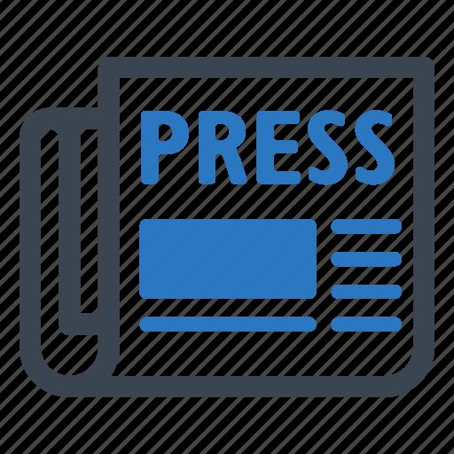 article, newspaper, press release icon