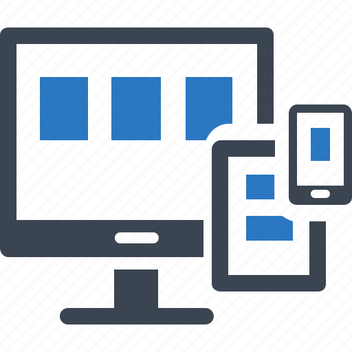 computer, connection, responsive, web design icon