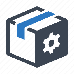 box, gear, package, search engine, seo icon