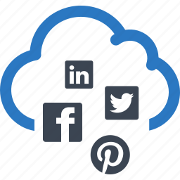 cloud, communication, internet, network, networking, social media icon