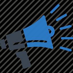 advertising, bullhorn, megaphone, promoting, viral marketing icon