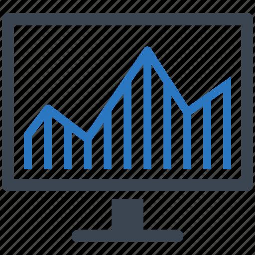 graph, monitor, statistics, web analytics icon