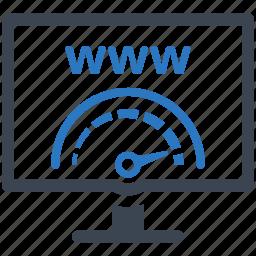 internet, search engine, seo, speedometer, web optimization icon
