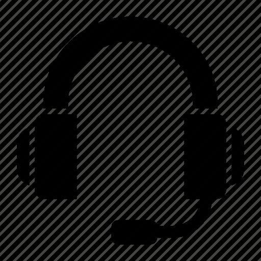 call center, headphones, headset icon