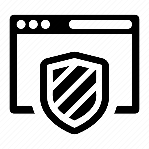 browser, protection, security icon
