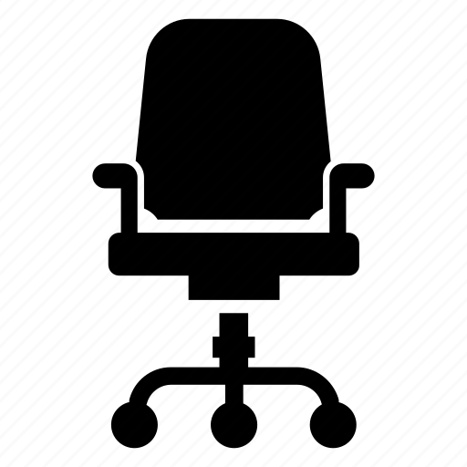 business, desk chair, furniture, office chair icon
