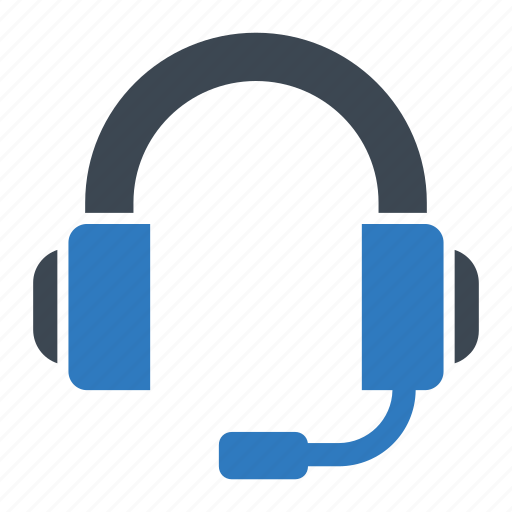 call center, devices, gadget, headphones icon