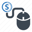 click, dollar, make money icon
