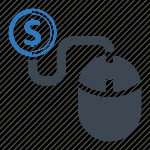 click, dollar, make money icon