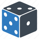 casino, dice, game, play icon