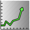 business, chart, graph, line, marketing, seo icon