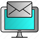 computer, data, email, file, letter, mail icon