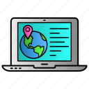 location, map, online, place, world icon
