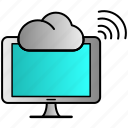 cloud, communication, data, streaming icon