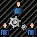 communication, human, man, network, teamwork icon