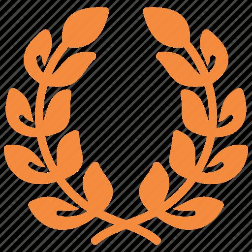 achievement, award, laurel wreath, quality, reputation management icon