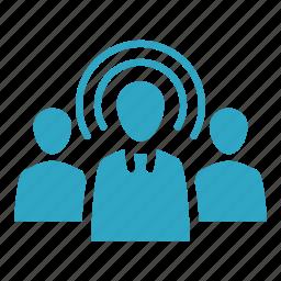 business, businessman, marketing, target audience, target market, targeting, team icon