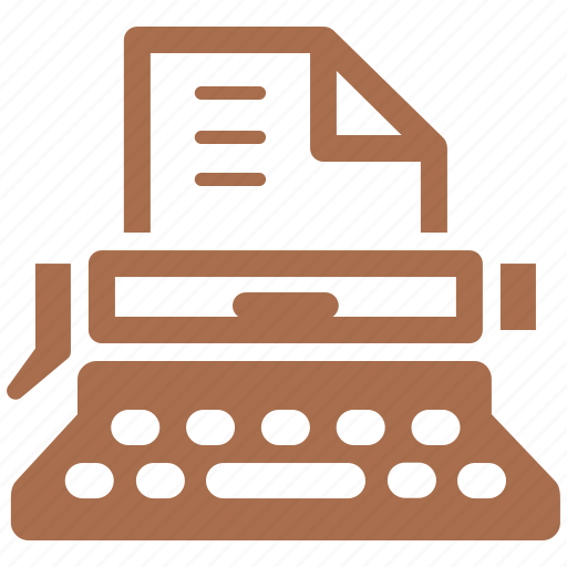 article submission, typewriter, typing, web content icon