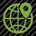 geo targeting, global, location, map pin icon