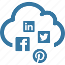 cloud, network, seo, social media cloud icon