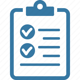 check mark, checklist, clipboard, exam, seo audit, tasks, test, to do list icon
