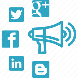 communication, connection, internet marketing, megaphone, online advertising, social media, social media marketing icon
