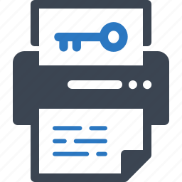 keyword generator, office supplies, printer icon